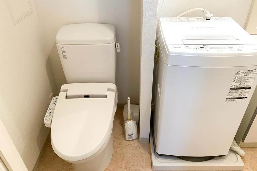 お手洗いは人気の独立式。衛生面も安心です