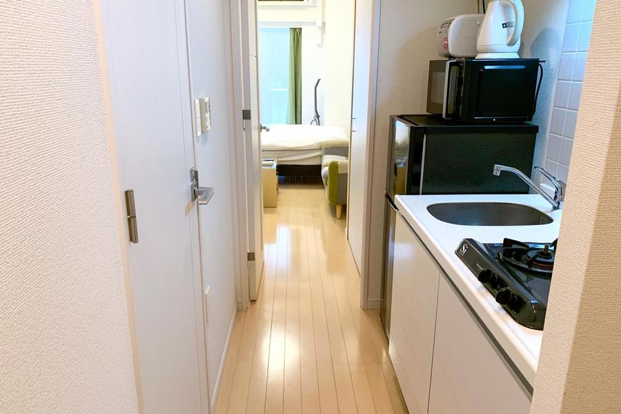 床はお部屋から玄関まで一続き。段差のないバリアフリー仕様です