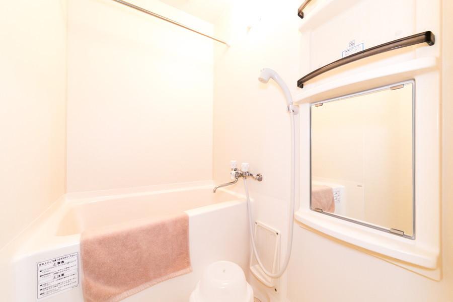 一日の疲れを癒すバスルーム。浴室乾燥機搭載です