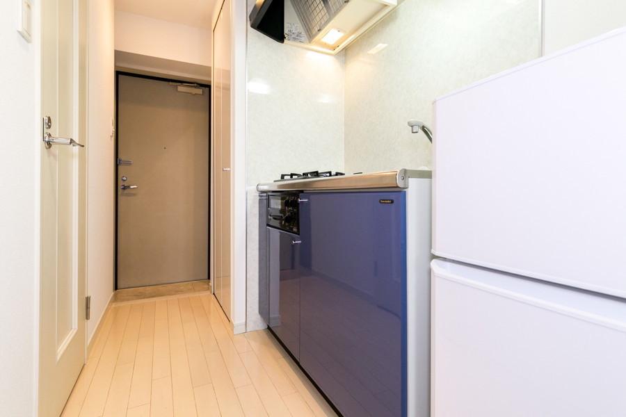 キッチン前の廊下もしっかり確保。お料理がしにくい心配もありません