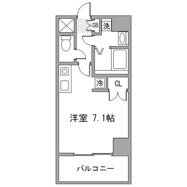 【ミドル割】アットイン渋谷2-3の間取り