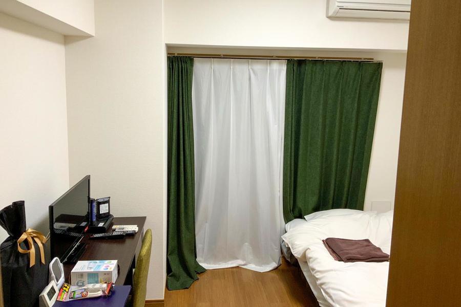 お部屋は5.5帖とコンパクトなサイズ