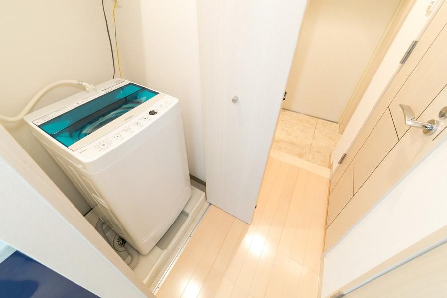 洗濯機は衛生面、防犯面ともに安心の室内置きタイプ