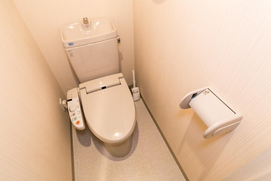 衛生面が気になるお手洗いも独立タイプで安心