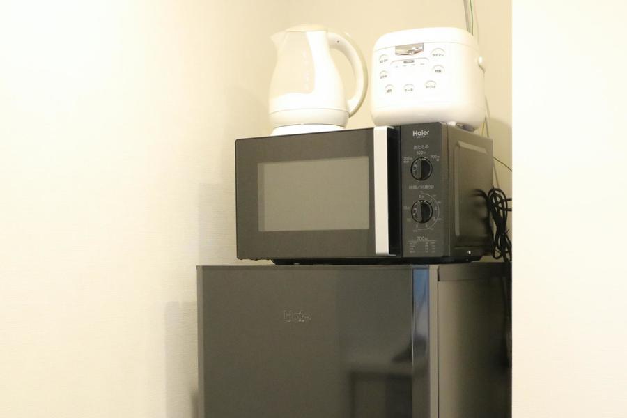 冷蔵庫をはじめ、炊飯器、電子レンジなど各種ご用意しています
