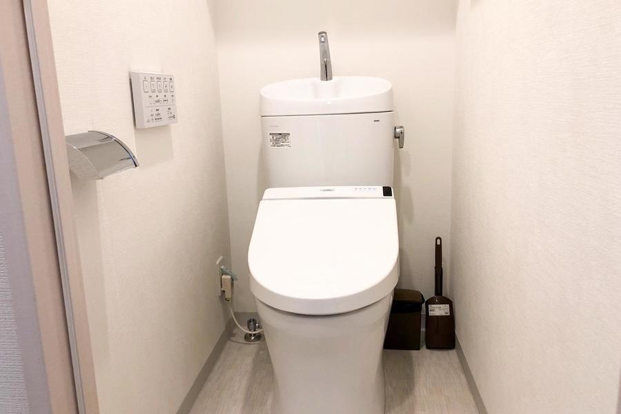 デザイン性の高いタンクレスタイプのお手洗い