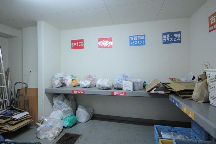 マンション内にあるゴミ捨て場