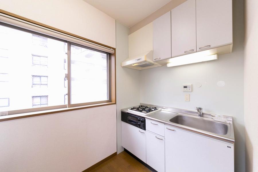 キッチンは3帖とたっぷりの広さ。動きにくさはありません