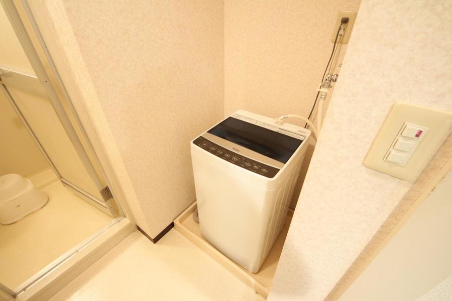 洗濯機は室内置きタイプで衛生的