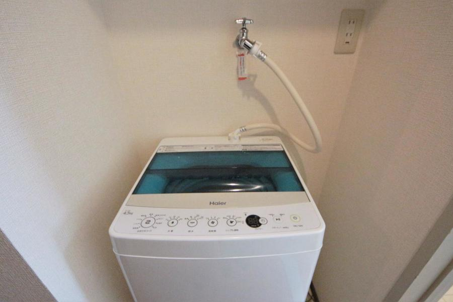 洗濯機は廊下になります!