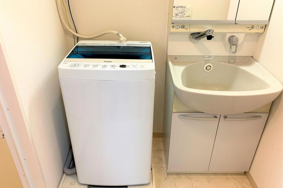 洗面台は大きなボウルが特徴。嬉しいシャンプードレッサータイプです