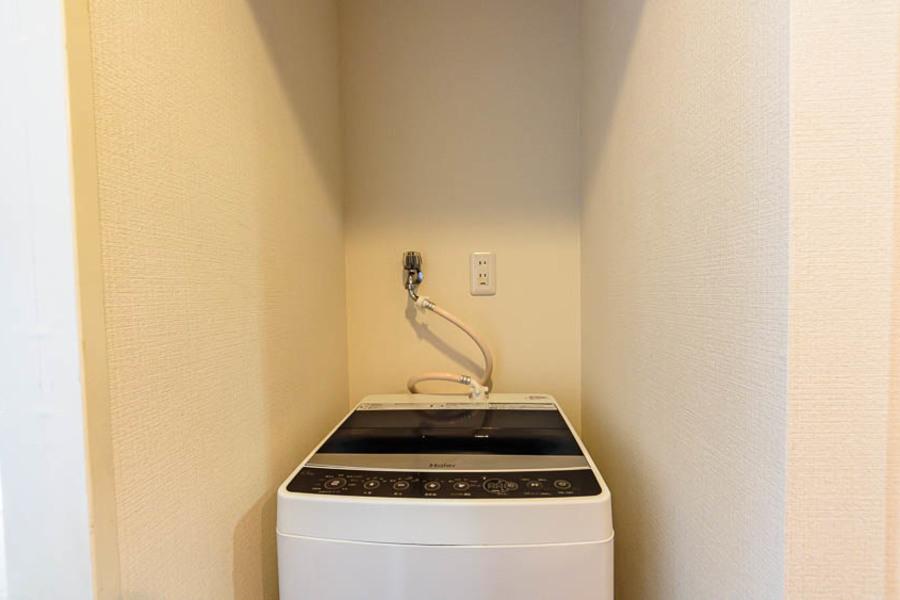 洗濯物はお風呂場の浴室乾燥機を使って乾かすことができます!
