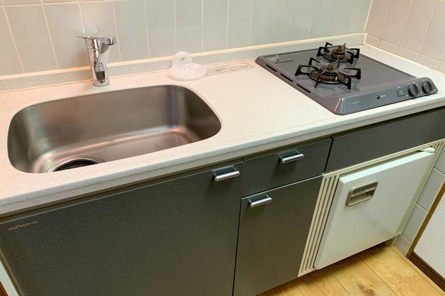 キッチンは独立型。お部屋に匂いが流れることもないためお料理がはかどります