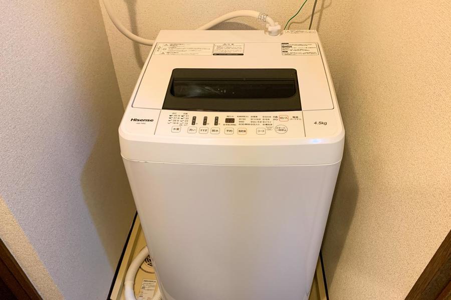 洗濯機は室内置きタイプ。衛生面・防犯面ともに安心