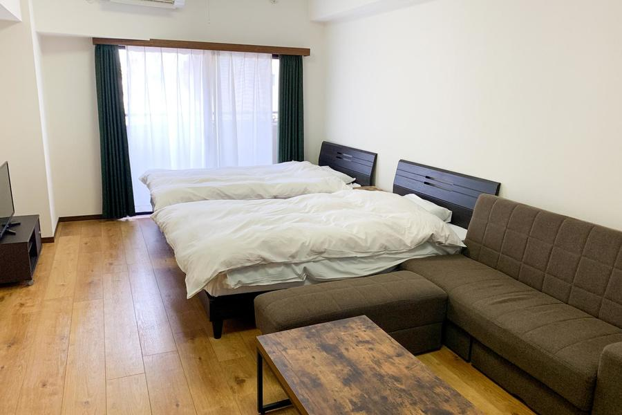 アットインでは珍しいベッド2台を設置したツインタイプのお部屋