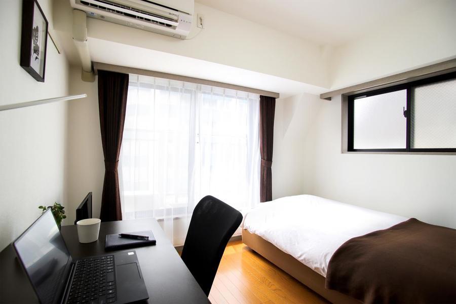 ほどよい6帖のお部屋。家具家電を設置してもゆとりがあります☺
