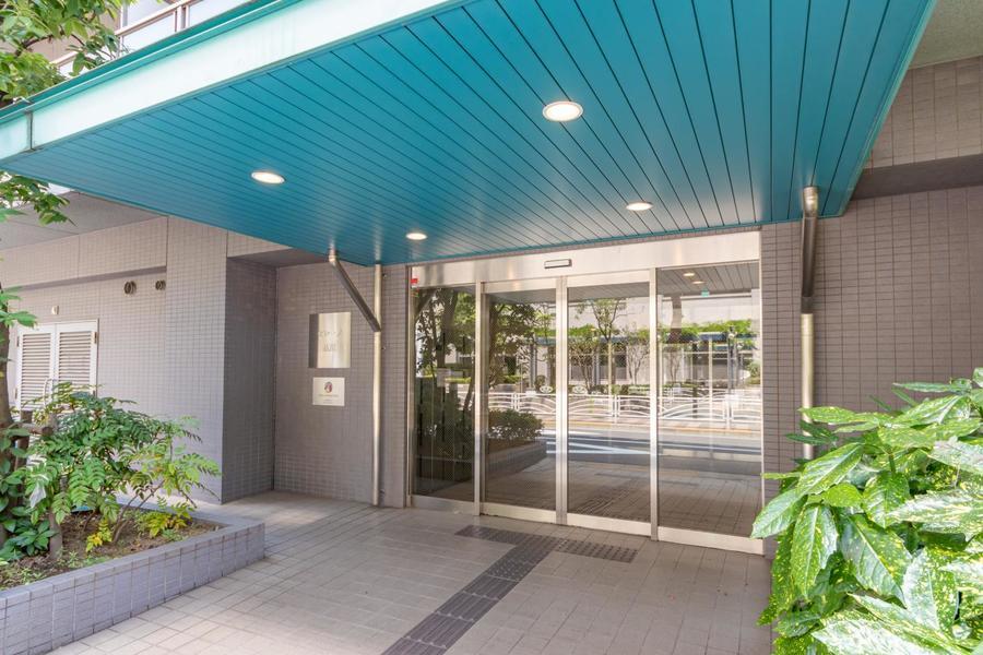 入り口は緑に囲まれて、爽やかな印象です!
