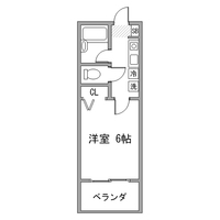 【ロング割】アットイン町田1間取図