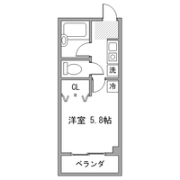 【ロング割】アットイン本厚木1間取図