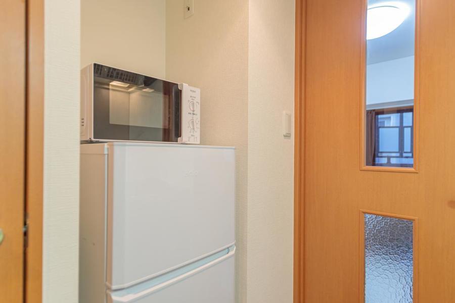 もちろん冷蔵庫、電子レンジもございます