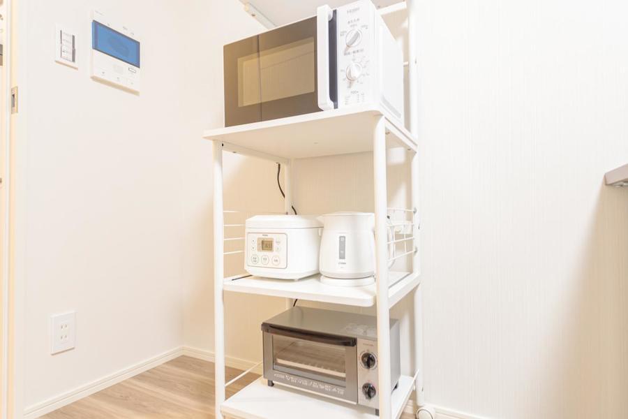 キッチン家電セットもございます。トースターで朝美味しいパンも焼けますね。