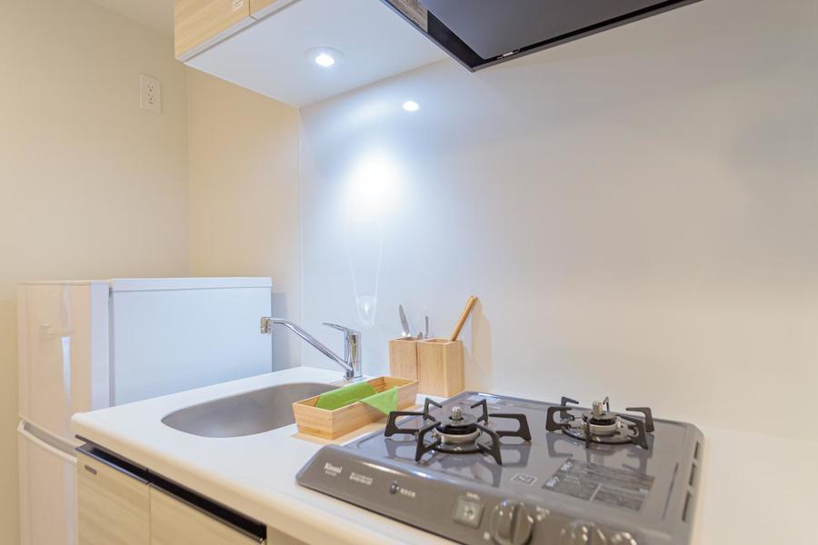 清潔感のある広いキッチンです。