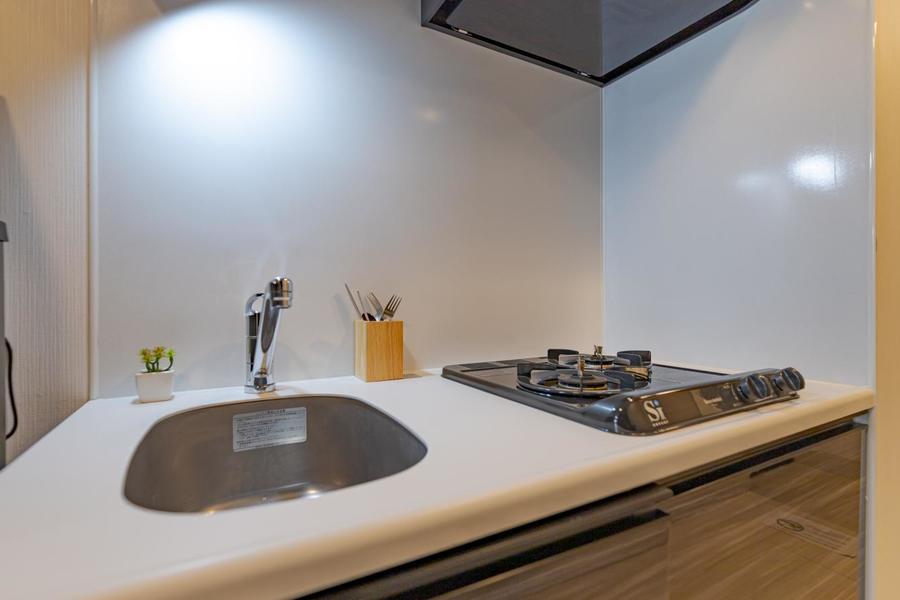 キッチンは2口コンロで料理をする方にも嬉しいですね。