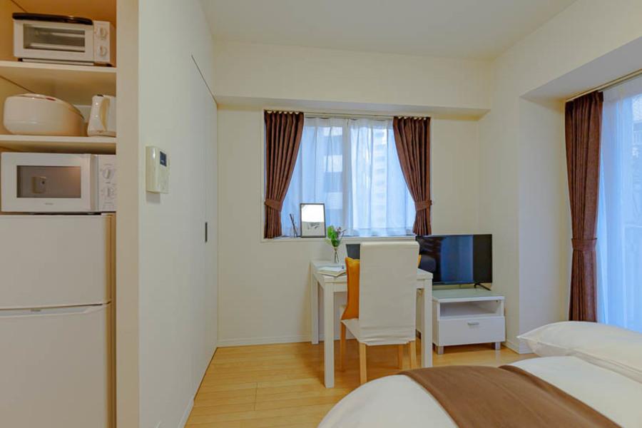 キッチンと居室は一体型ですが、広々とした印象です。