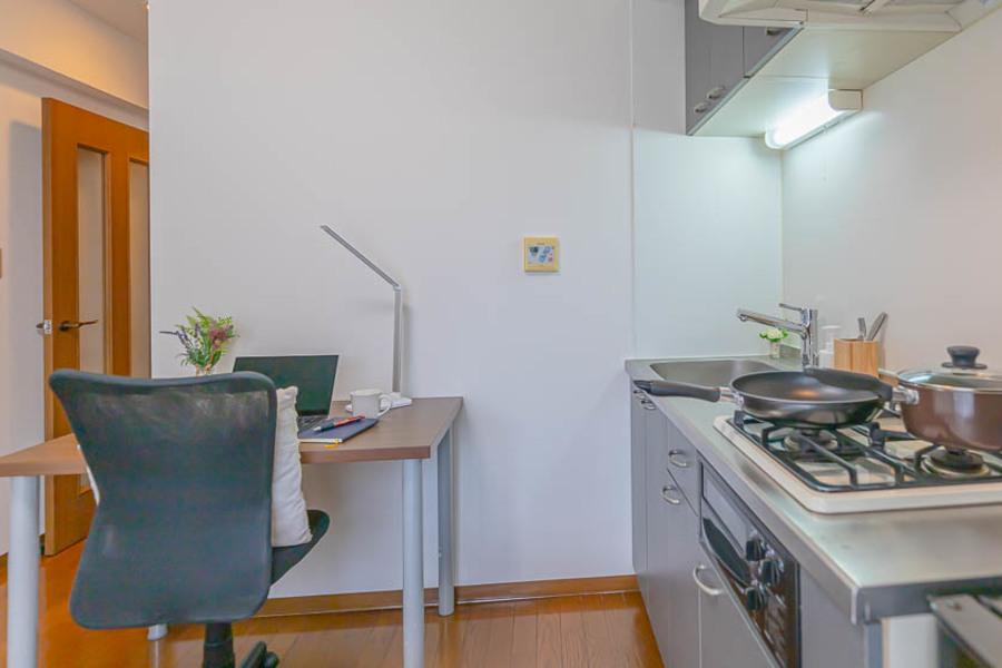 大きなキッチンは、料理がしやすいです。