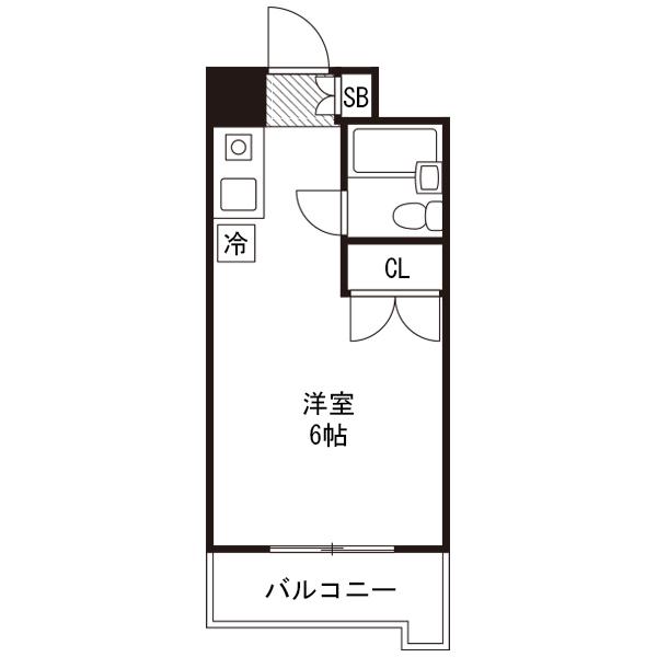 ●アットイン渋谷3-1の間取り