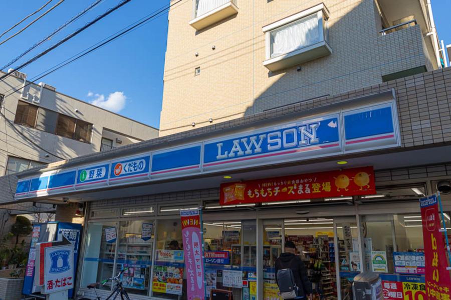 用賀駅から物件までの道のりにコンビニに寄れます!