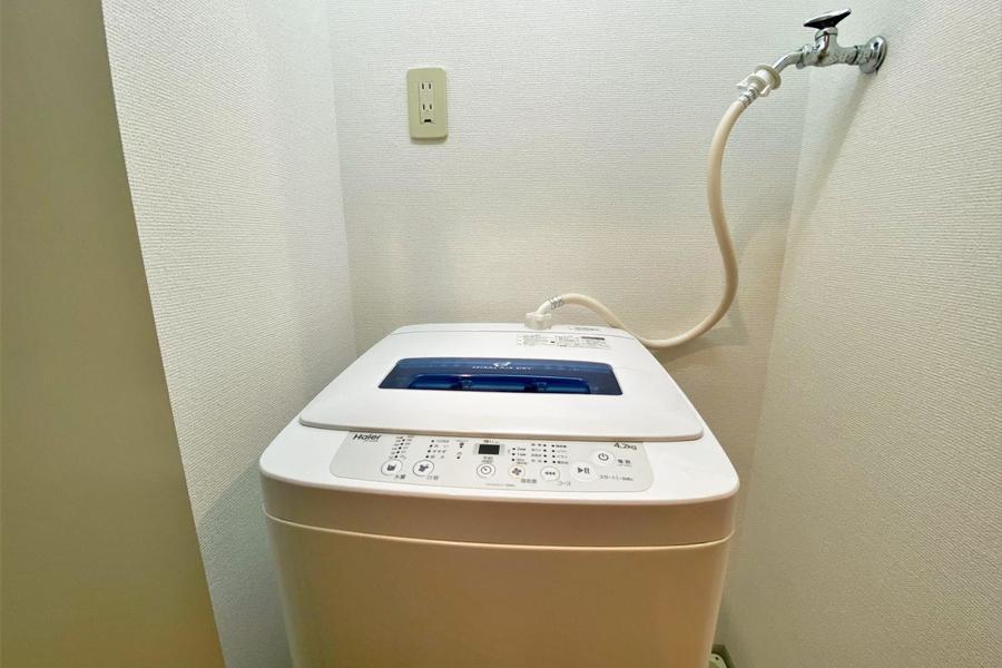 洗濯機も標準備品として設置しております。