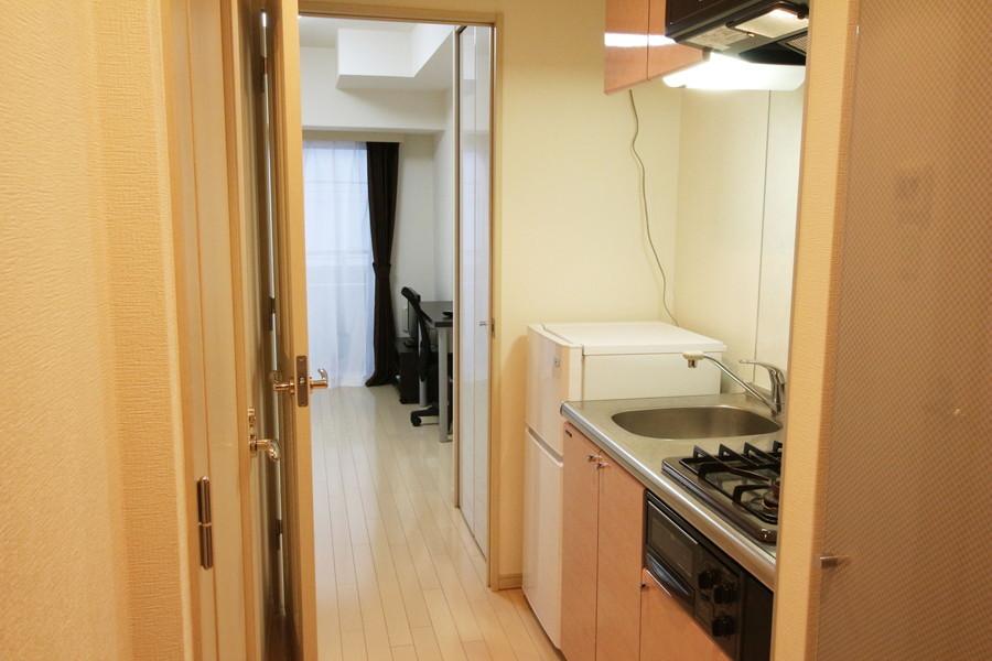 来客や室温管理時には仕切り扉を活用ください