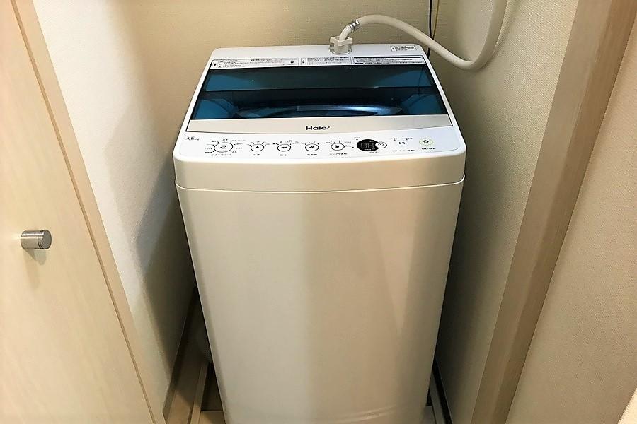 洗濯機は来客時に扉ですっきり隠せます