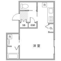 ●アットイン早稲田2-1間取図