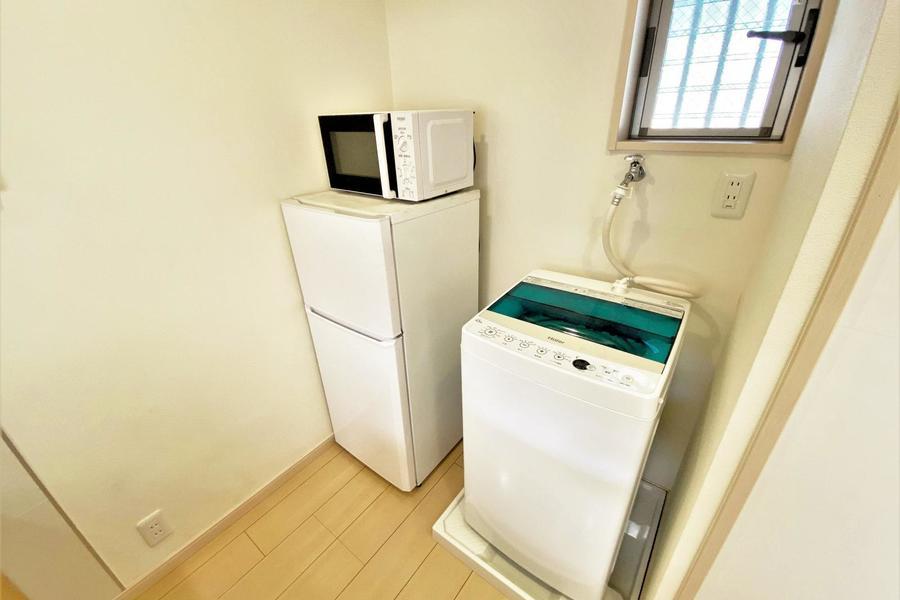 洗濯機、冷蔵庫も完備となります。