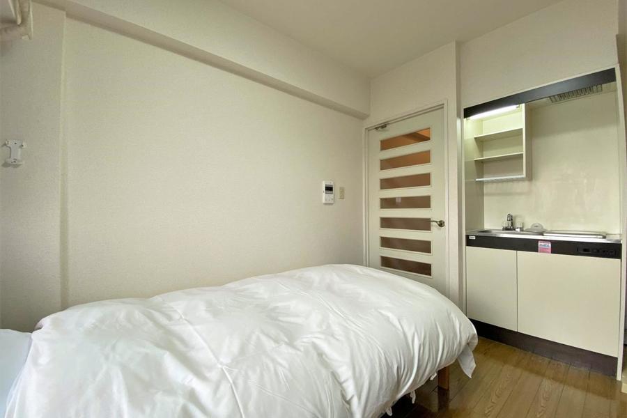 ベッドはシングルサイズとなっております。