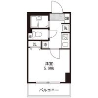 【ミドル割】アットイン新宿3-1間取図