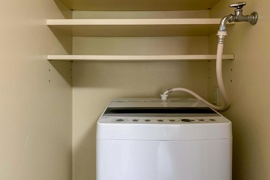 洗濯機 上部収納棚