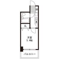 【ロング割】アットイン平塚1間取図