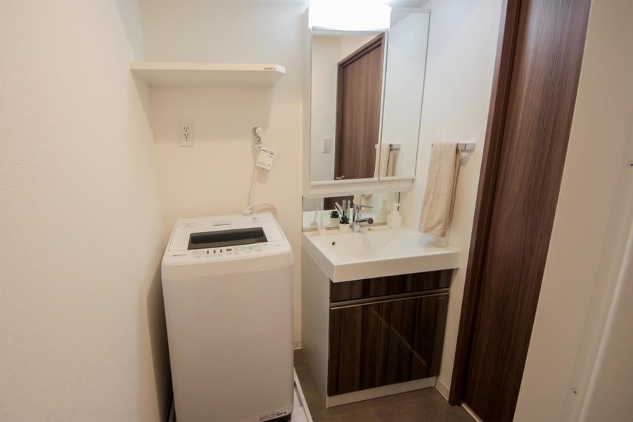 独立洗面台・洗濯機
