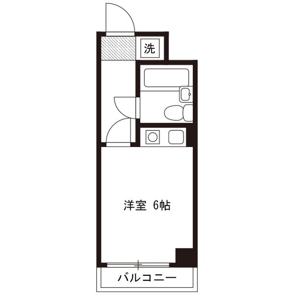【ミドル割】アットイン横須賀2の間取り