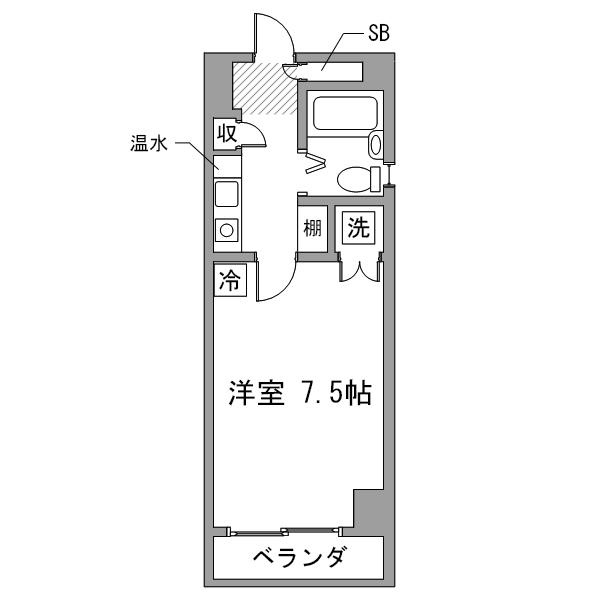 【スペシャルSALE】アットイン錦糸町6の間取り