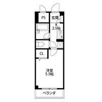 【ロング割】アットイン本厚木2間取図