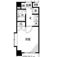 アットイン駒沢大学1間取図
