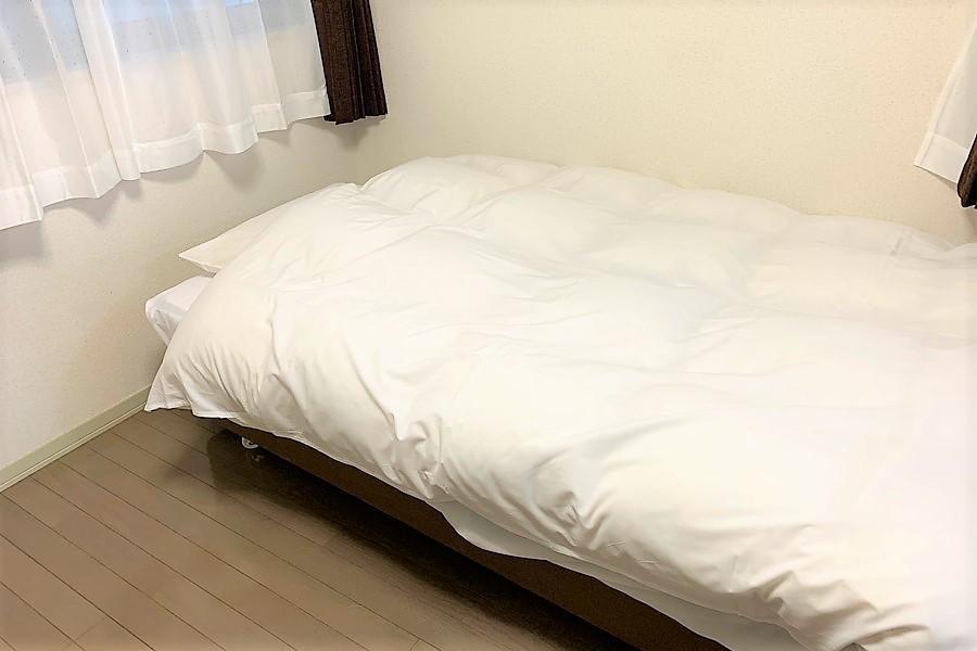 ふわふわなベッドでゆっくりお休みいただけます