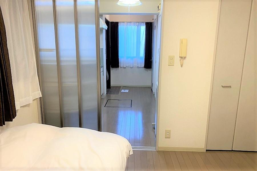 来客時にはスライドドアでプライバシー確保に役立ちます
