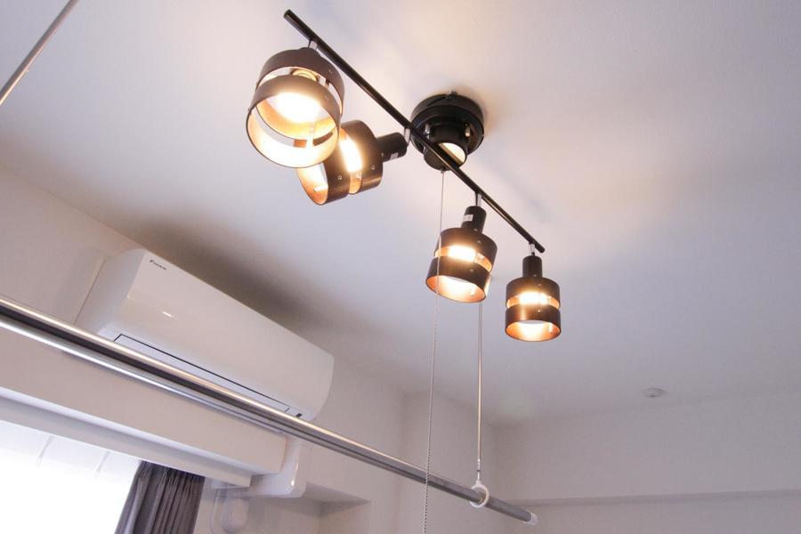 室内照明はスポットライトシーリングを採用