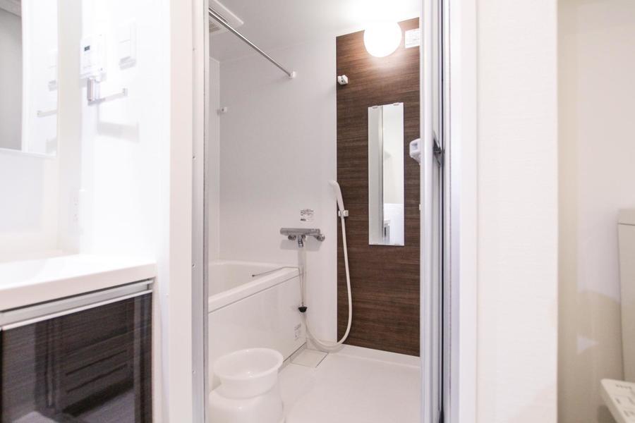 お風呂には便利な浴室乾燥機能搭載。雨の日も安心です