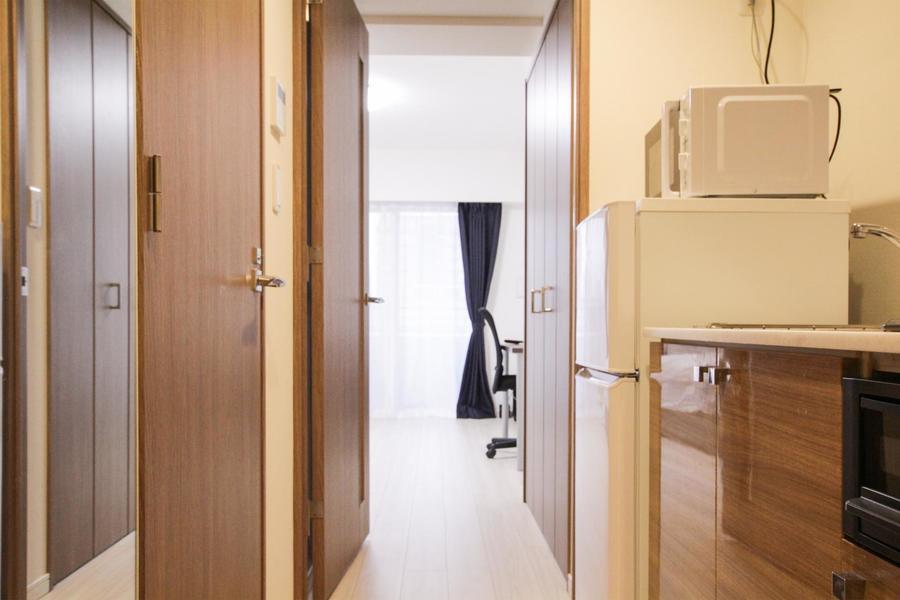 お部屋の扉などはブラウンを採用しメリハリを演出